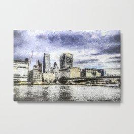 City of London Art Metal Print