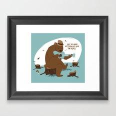 Brown Bear Blues Framed Art Print