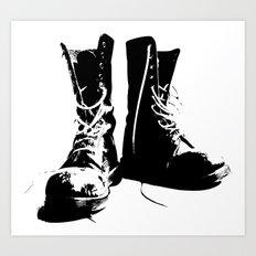 Punk High-Top Shoes Art Print