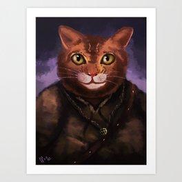 Farmer cat Art Print