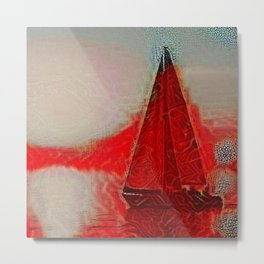 Too Hot for a Boat Metal Print