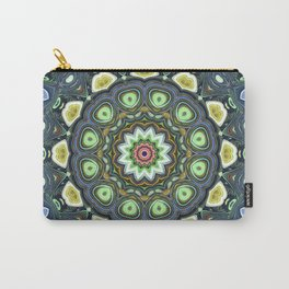 Lemon Lime Mandala Carry-All Pouch