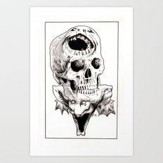 The Laughing Dragon Art Print