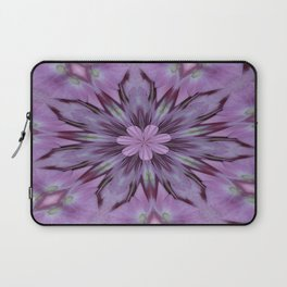 Floral Abstract Of Pink Hydrangea Flowers Laptop Sleeve
