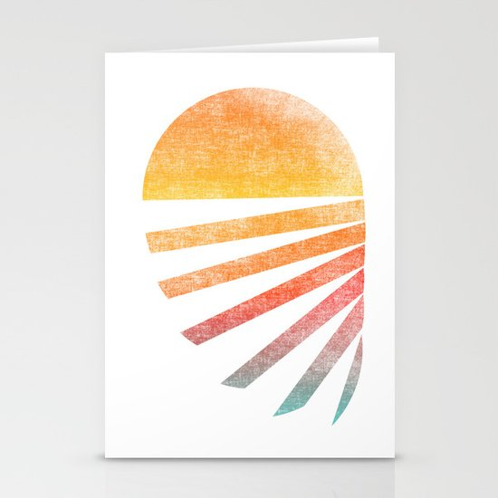 Raising sun (rainbow-ed) Stationery Cards