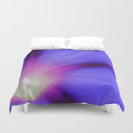Macro of A Royal Purple Ipomoea Flower Duvet Cover