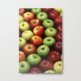 Various Types of Apples Metal Print