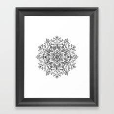 Thrive - Monochrome Mandala Framed Art Print