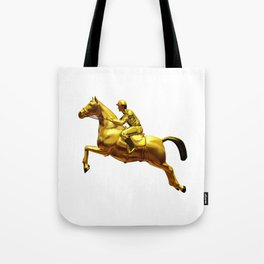 Horse Rider Gold Tote Bag