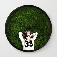 niall horan Wall Clocks featuring Niall Horan by Becca / But-Like-How