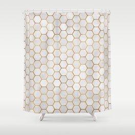 Geometric Hexagonal Pattern Shower Curtain