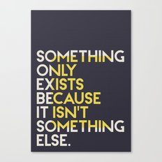 Something. Canvas Print