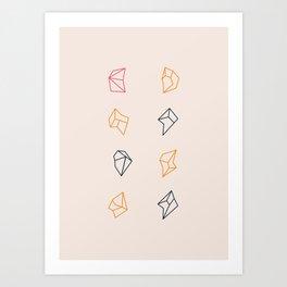 little fragments Art Print
