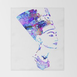 Queen Nefertiti Throw Blanket