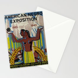 Vintage African American Negro Exposition Poster Advertisement Stationery Cards