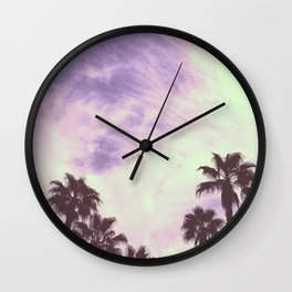 Palm Trees Over Vegas Wall Clock