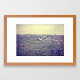 city in the hills::rwanda Framed Art Print
