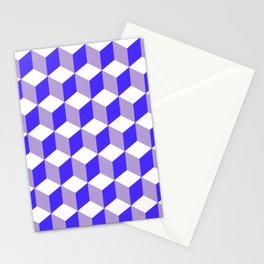 Diamond Repeating Pattern In Nebulas Blue and Grey Stationery Cards
