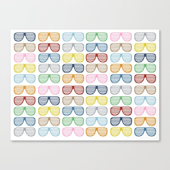 Rainbow Shutter Shades Canvas Print