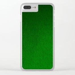Emerald Green Ombre Design Clear iPhone Case