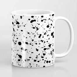 Paint Spatter Black and White Coffee Mug