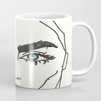 cara delevingne Mugs featuring Cara delevingne by Mary Naylor