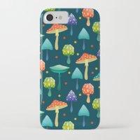 mushrooms iPhone & iPod Cases featuring Mushrooms by Julia Badeeva