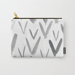 Watercolor V's - Grey Gray Carry-All Pouch