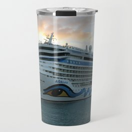 AIDAluna Cruise Ship in Road Town on Tortola Travel Mug