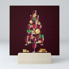 Happy Red Wine Tree Mini Art Print