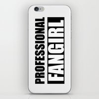 fangirl iPhone & iPod Skins featuring Professional Fangirl - Fangirl - Gray by Kris James