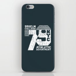 Vintage T-shirt Stamp - College NYC 79 iPhone Skin