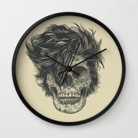 dead Wall Clocks featuring Dead Duran by Rachel Caldwell