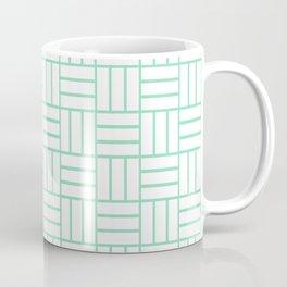 Basketweave (Mint & White Pattern) Coffee Mug