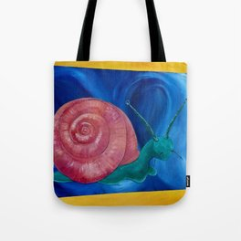 psychedelic snail Tote Bag