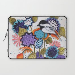 Chickadee Garden Floral Laptop Sleeve