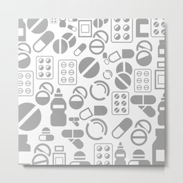 Tablet a background Metal Print