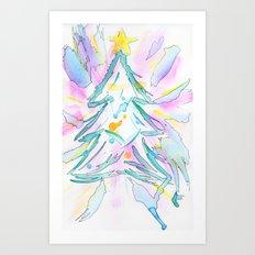 Xmas Tree Art Print