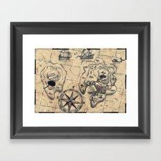 Old Nautical Map Framed Art Print