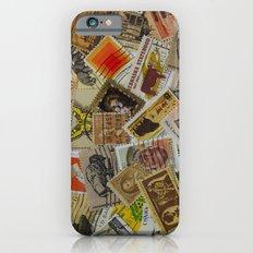 Vintage Postage Stamp Collection - Orange iPhone 6s Slim Case