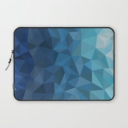 blue geometric Laptop Sleeve