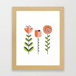 mod flower trio - version 2 Framed Art Print