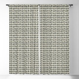 Black and Natural Pattern Blackout Curtain