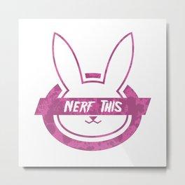 Nerf This Splatter Metal Print