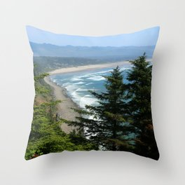 An Endless Costal View Throw Pillow