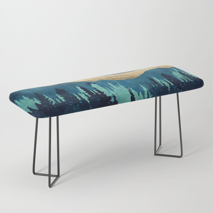 Blue Forest Bench