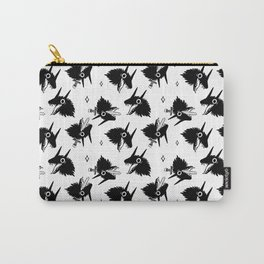 Wolf Heads Repeat Pattern Carry-All Pouch