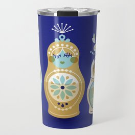 Russian Nesting Dolls – Navy Travel Mug