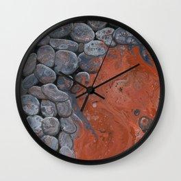 River of Lava Wall Clock