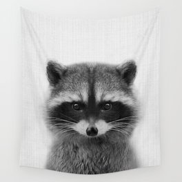 raccoon headshot Wall Tapestry